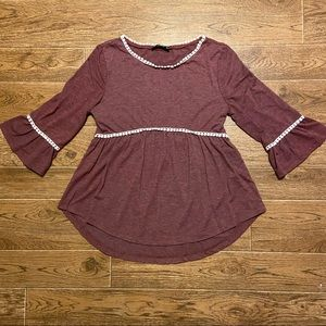 Dusty Rose Peasant Blouse